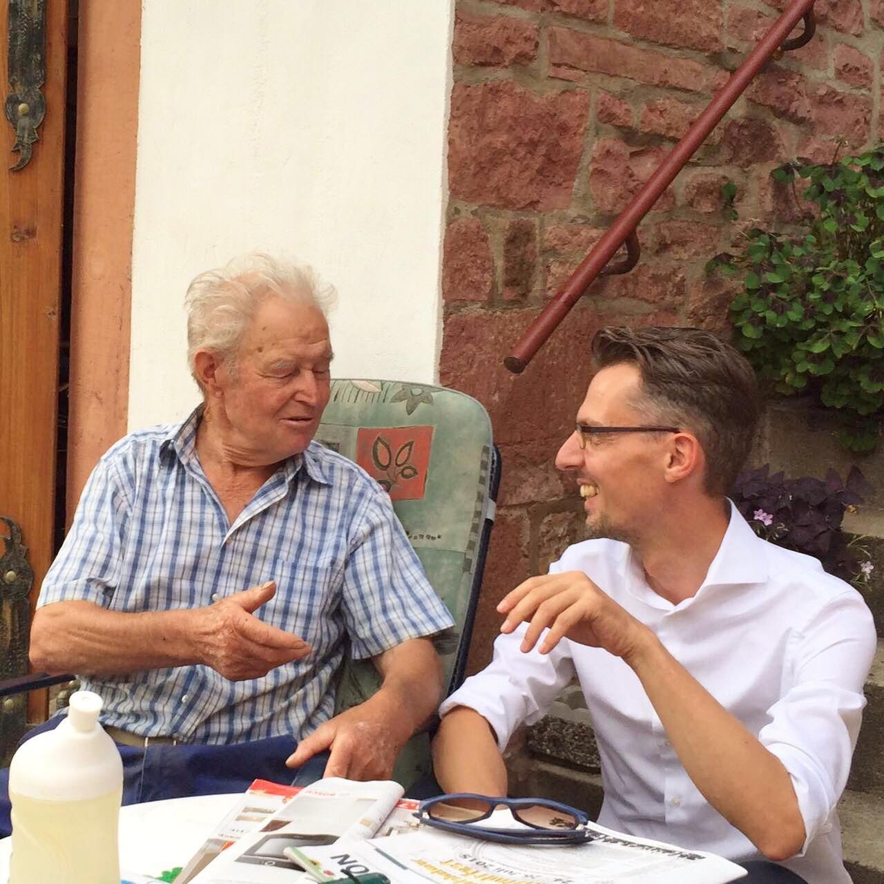Lars Castellucci Sommertour 2015 Epfenbach Hausbesuche