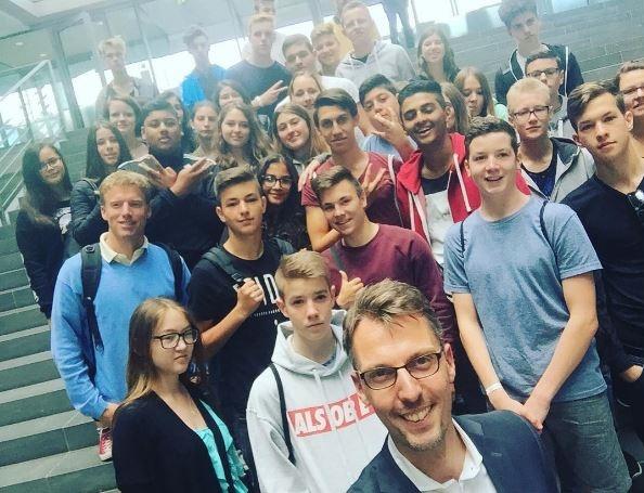 Castellucci Lars Besuchergruppe Geschwister Scholl Werkrealschule Leimen St. Ilgen